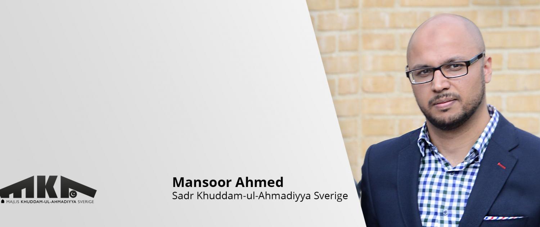 Mansoor Ahmed, Ny Sadr Khuddam-ul-Ahmadiyya Sverige